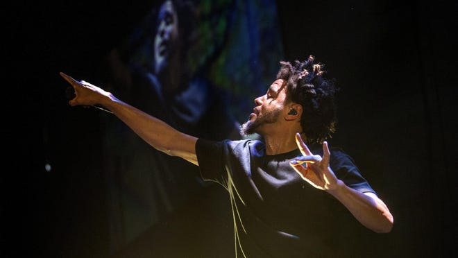 J. Cole performs a concert Aug. 29, 2015, at the Crown Coliseum. The last concert at the Crown Complex was staged March 6 — five months ago — when the Four Tops and the Temptations played a Community Concerts show that drew a respectful crowd of roughly1,600 in the old Crown Theatre.