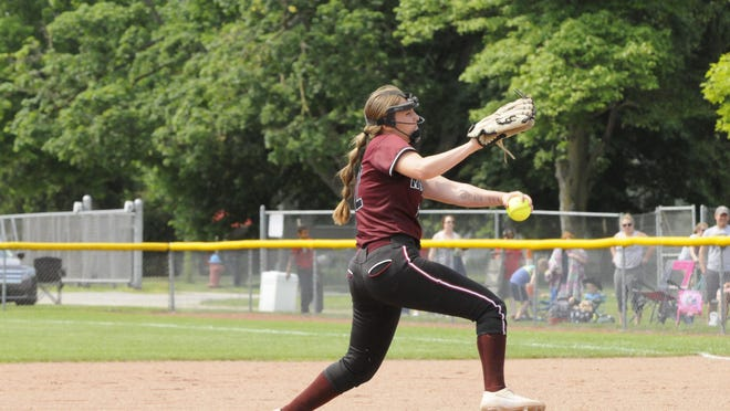 Morenci pitcher Ellie Price goes into her windup during a game in the 2019 season against Waldron.