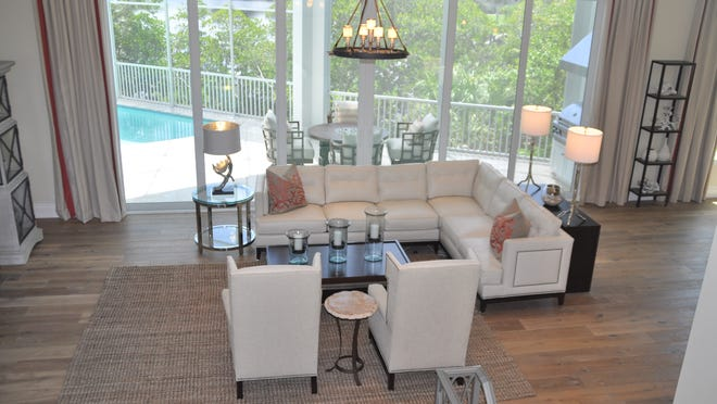 All five of the homes at Cape Hickory have completely different interior styles and decorations.