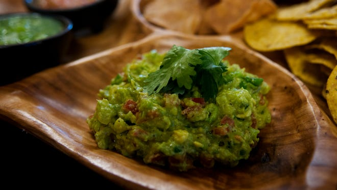Freshly made guacamole from Casa Lupita Cafe.