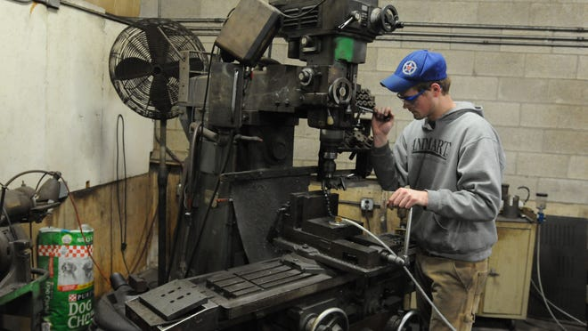 Evan Lehmann uses a milling machine to make a part at Stainless Piping Specialists in Omro. Many of the job opportunities at Stainless are very specialized and require job knowledge and an extensive in-house job training program. Stainless steel welders are a premium as well as laser cutters and fabricators.