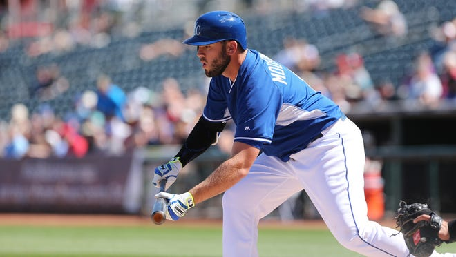 Mike Moustakas was a big part of the Royals' storybook run to the 2014 World Series against the San Francisco Giants.
