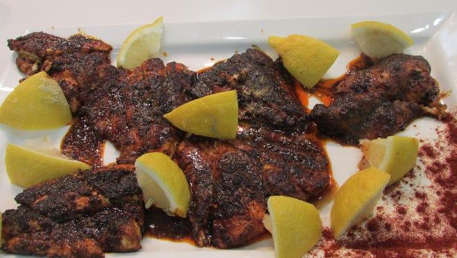 Cowboy Blackened Catfish from Sweet Basil Cooking School.