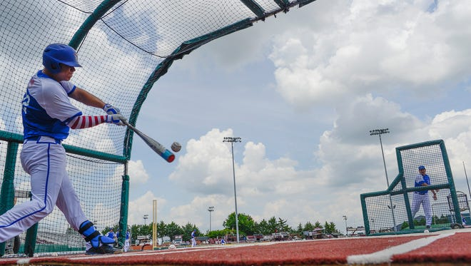 Louisiana Tech takes batting practice Thursday afternoon at Dudy Noble Field in Starkville, Mississippi, in preparation for Friday's regional game against Cal State Fullerton.