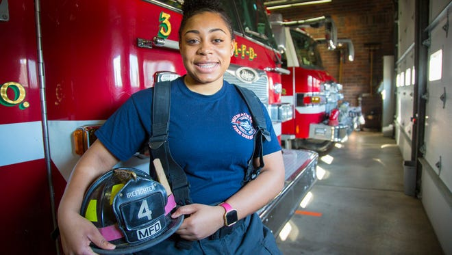 Milwaukee firefighter Kendria Donaldson took the community paramedics training at UWM's School of Nursing so she could teach people to take better care of their health conditions.