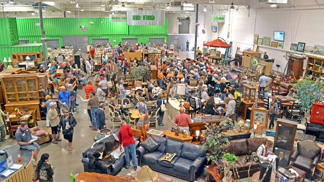 More millennials are buying homes and can find good deals on furniture at auction.