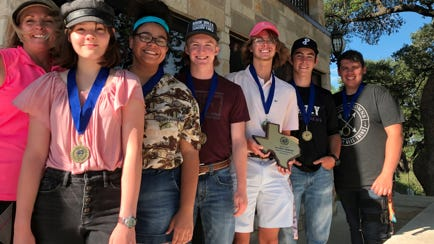 Team Members Left to Right:  Diann Biddle-Coach, Sidney Becktold, Madison Green, Seth LaRue, Cooper Neel, Korbin Barr, and Aaron Callaway (not pictured Chris Zondag);