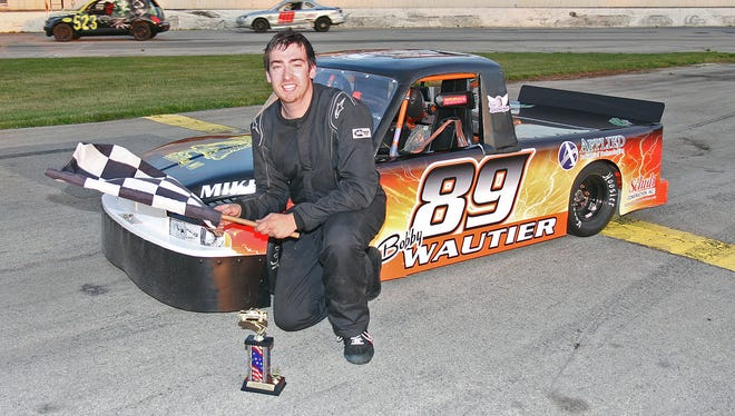 """Denmark's Bobby Wautier has been fast out of the box in 2018. The 22-year-old snatched fast time and the sport truck feature win in Week 2 of """"Thursday Night Thunder"""" on May 31 at Wisconsin International Raceway in Kaukauna."""