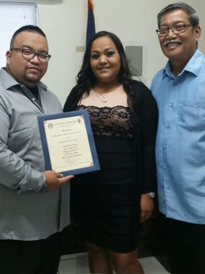 Chris Leon Guerrero and Teresita Maria Salas were wed June 12, at the office of Sen. Joe S. San Agustin, who was honored to officiate for the happy couple.