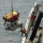 Researchers deploy a remotely operated submersible vehicle Friday to explore a German U-boat that sank at the end of World War II off the Rhode Island coast.