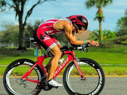 Mike Curtin on his bike in 2014.