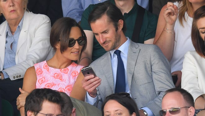Pippa Middleton and James Matthews at Wimbledon on July 6, 2016.