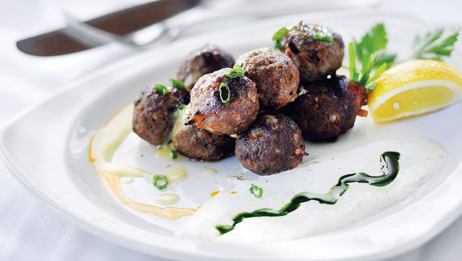 Keftedes  —or Greek meatballs  —is one of the many items Skopelos Executive Chef Gus Silivos has on the menu of his Greek Wine Dinner to gear up for Pensacola's Greek Festival.