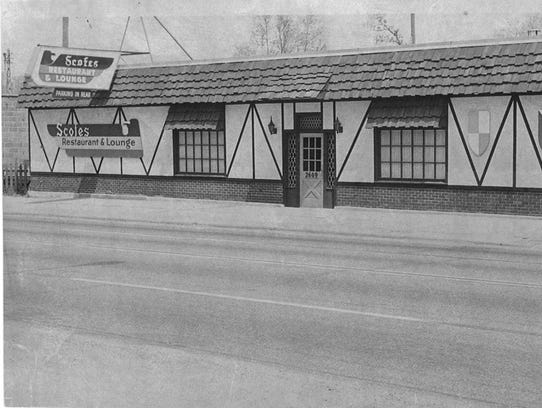 Scofes Restaurant Lounge in 1967. The restaurant was