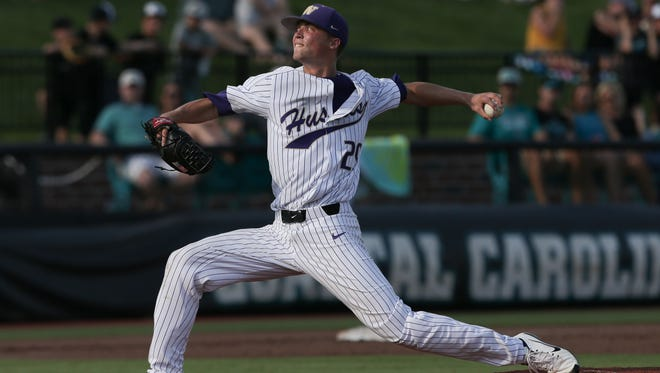 South Kitsap graduate Lucas Knowles and the Huskies are playing Mississippi State in the College World Series on Saturday.