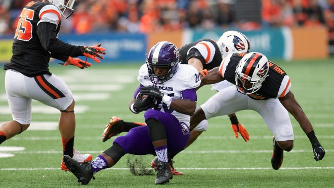 Former Oregon State defensive back Cyril Noland-Lewis (17) transferred to Louisiana Tech this week where he'll provide depth for the Bulldogs.