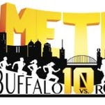Albion Running Club will host an inaugural 10-mile road race, pitting Buffalo vs. Rochester in a friendly competition.