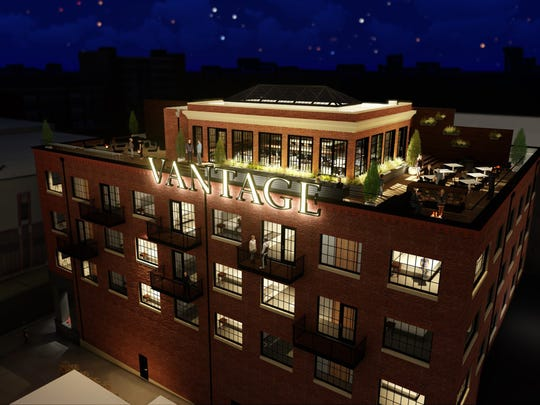 A rendering of Hotel Vandivort's planned 42,000-square-foot