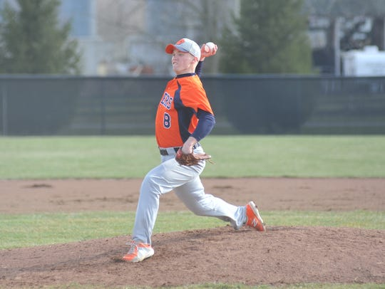 Galion's Kaleb Harsh pitched four innings against Bucyrus.