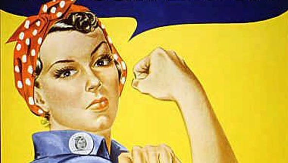 "The iconic ""Rosie the Riveter"" poster."