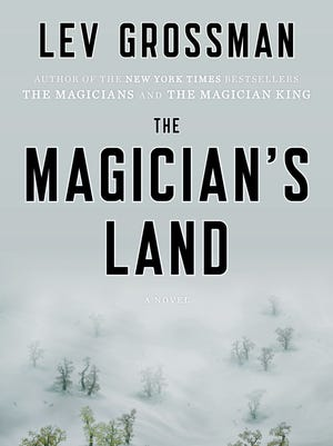 """""""The Magician's Land"""" book cover by Lev Grossman."""