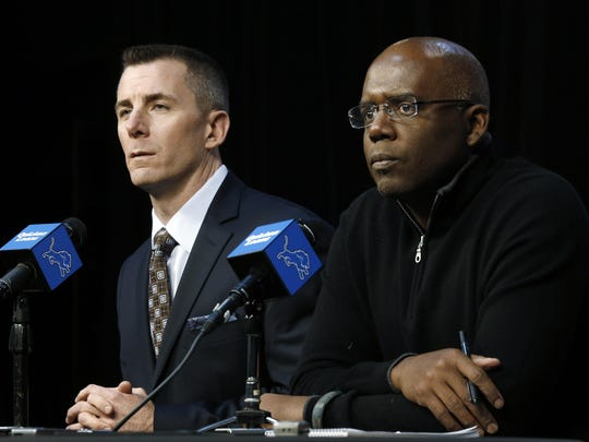 Tom Lewand, left, and Martin Mayhew paid the price for the Lions' inability to muster any sustained on-field success during their front-office tenure.