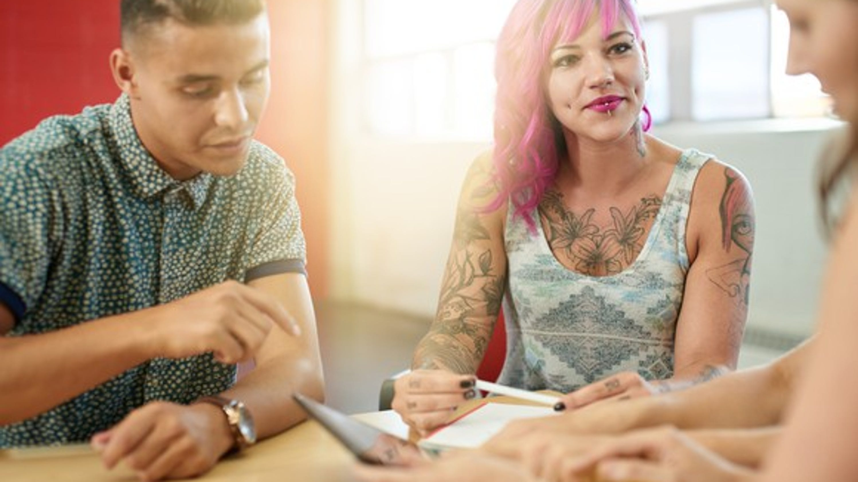 tattoos and piercings in the workplace This study examined attitudes and opinions of young professionals and graduate students aged 21-35 towards tattoos and piercings tattoos in the workplace are.