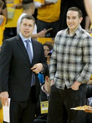 Dave Joerger and Robert Pera in May 2015