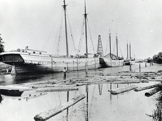 The schooner Charles Spademan was built in 1873 in Marine City.