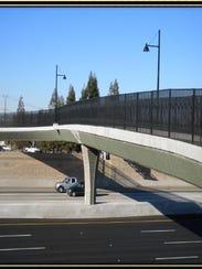 Rendition of Tulare pedestrian bridge.