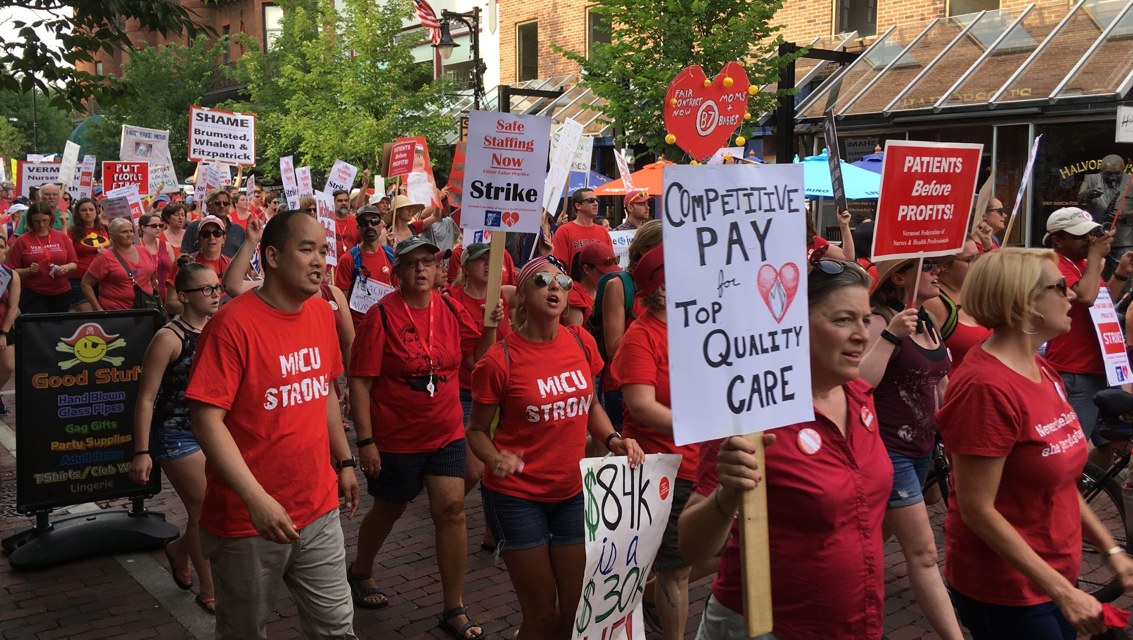 uvm nurses strike  nurses  hospital return to bargaining table