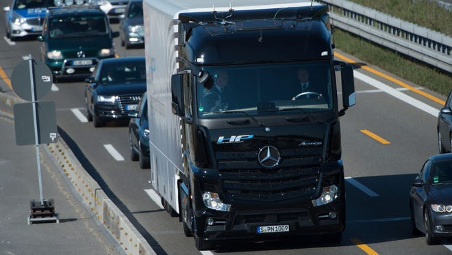 German automaker Daimler said its heavy goods vehicles unit, Daimler Trucks, planned to return to the Iranian market.