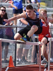 McConnellsburg's Josh Booth is the top-seeded runner in the 2A 300 hurdles at the PIAA track & field championships this weekend.