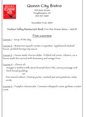 Food Fix: Queen City Bistro Restaurant Week menu.