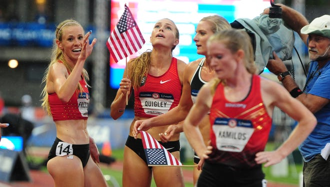 Collleen Quigley qualified for the Olympics in the steeplechase.