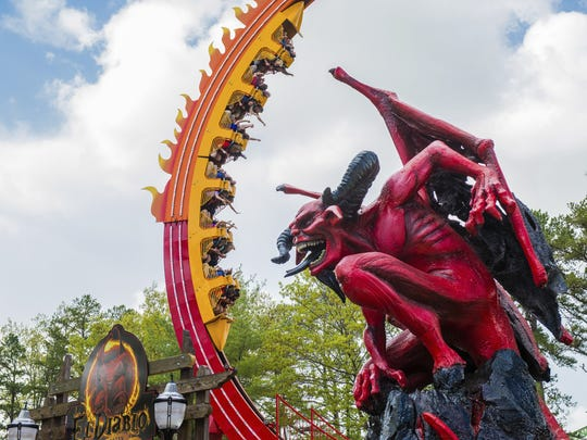 El Diablo coaster is the latest addition to Six Flags Great Adventure.