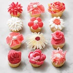 Wow friends and family alike when you present these stunning cupcakes topped with candy flowers.  --  ONLY FOR USE WITH ARTICLE SLUGGED -- BC-ASK-MARTHA-CANDY-FLOWERS-ART-NYTSF -- OTHER USE PROHIBITED.