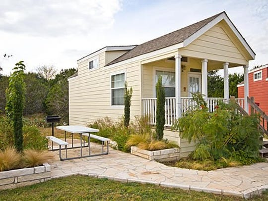 This is one style of the tiny homes that will go in