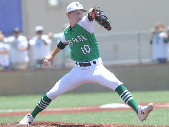 Iowa Park pitcher Braxton Briones is one of three starters who has seen plenty of work since the Hawks have gone to a Game 3 in each of the past three weeks.