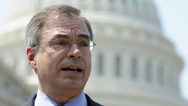 """U.S. Rep. Andy Harris, R-1st-Md.  U.S. Rep. Andy Harris, R-1st-Md.,  voted against two trade measures  before the House on Friday. U.S. Rep. Andy Harris, R-1st District, has criticized a division of  Pfizer.   AP Rep. Andy Harris held a town hall meeting this month  with an overflow crowd who booed  when an audience member asked him to support a path to citizenship for immigrants in the U.S. illegally.   AP file photo FILE - In this June 28, 2012 file photo Rep. Andy Harris, R-Md., speaks at a news conference outside the US Capitol in Washington. As immigration advocates swarm the country trying to persuade House Republicans to pass a comprehensive immigration overhaul, Harris held a town hall meeting this August northeast of Baltimore, Md., with an overflow crowd who booed loudly when an audience member asked him to support a path to citizenship for immigrants in the U.S. illegally. Harris shot the idea down calling it a """"nonstarter"""" that's """"not going anywhere fast"""" in the House. (AP Photo/Cliff Owen)"""