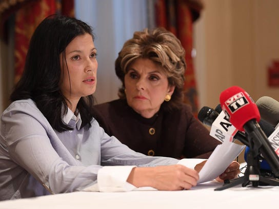 Actress and model Natassia Malthe, left, an alleged