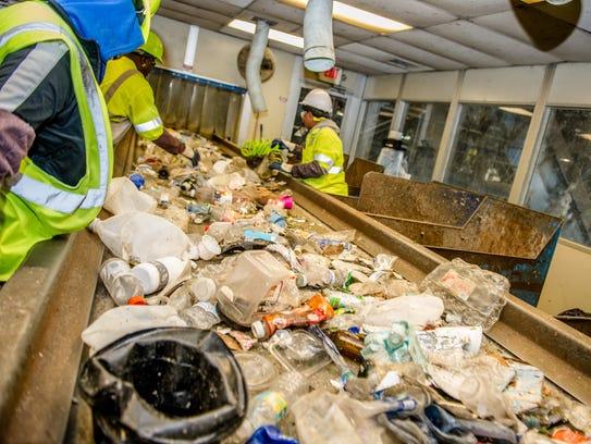 About 14 million pieces of film plastic come through