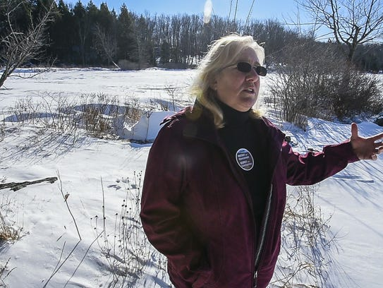 Sally Collopy, who lives on Fairfield Pond in Fairfield,
