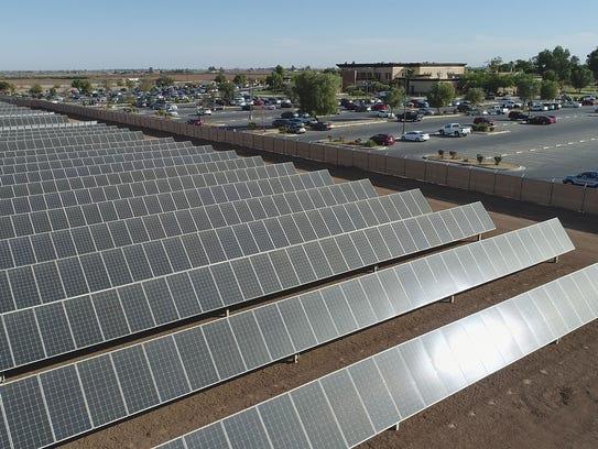 The three-megawatt solar installation adjacent to Imperial