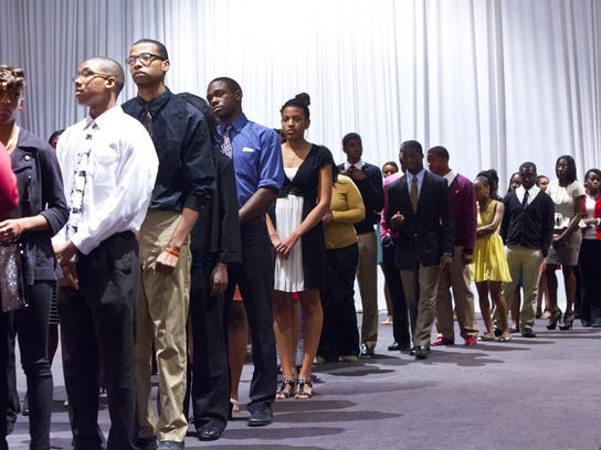 More than 400 students were recognized at the 34th Annual Salute to Black Scholars dinner in 2013. Marie De Jesus/FILE PHOTO