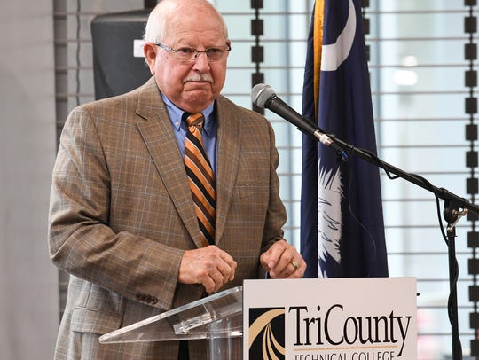 State Rep. Bill Sandifer, III, speaks during the Tri-County