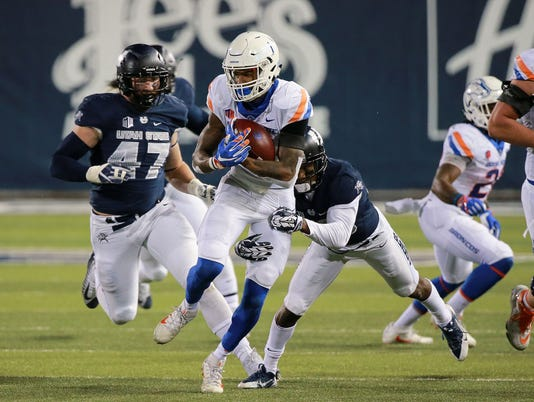 NCAA Football: Boise State at Utah State