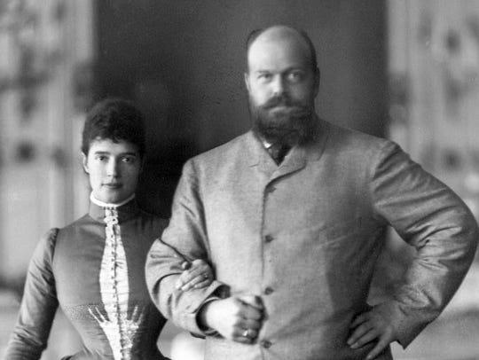 Tsarina Maria Feodorovna and Tsar Alexander III of
