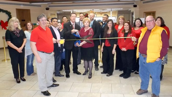 1st New Mexico Bank in Silver City held a ribbon cutting ceremony for a remodel that was recently completed.