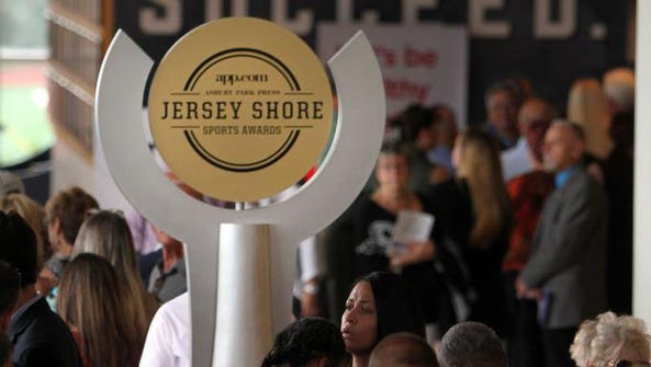 People arrive for the Jersey Shore Sports Awards dinner
